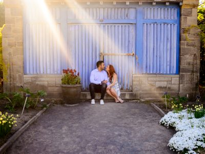 Sally + Michael - engagement session at the Botanical Garden Montreal