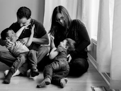 Jessy + Dan - séance famille à la maison