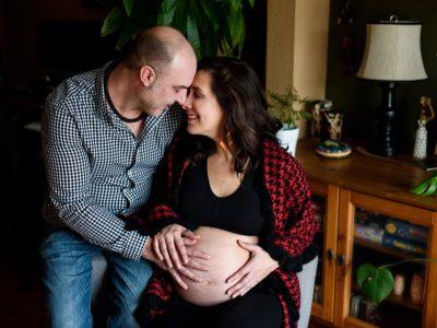Taís + Dany - séance maternité à la maison