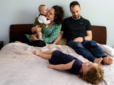 Rachel, Léo, Simone & Jules - séance famille à la maison